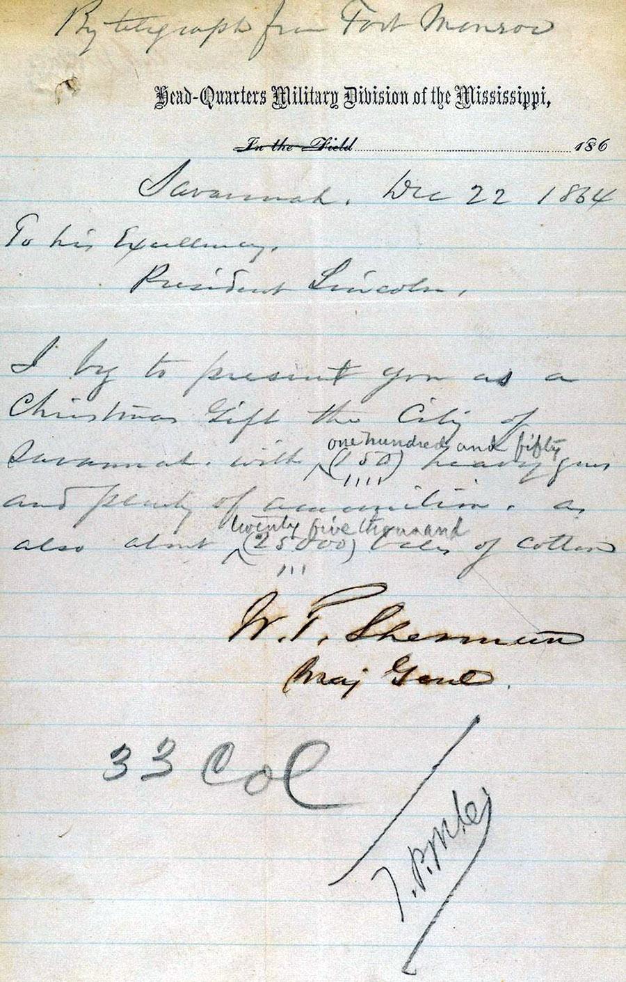 President Lincoln's Christmas Gift | Savannah History | Savannah Dream Vacations